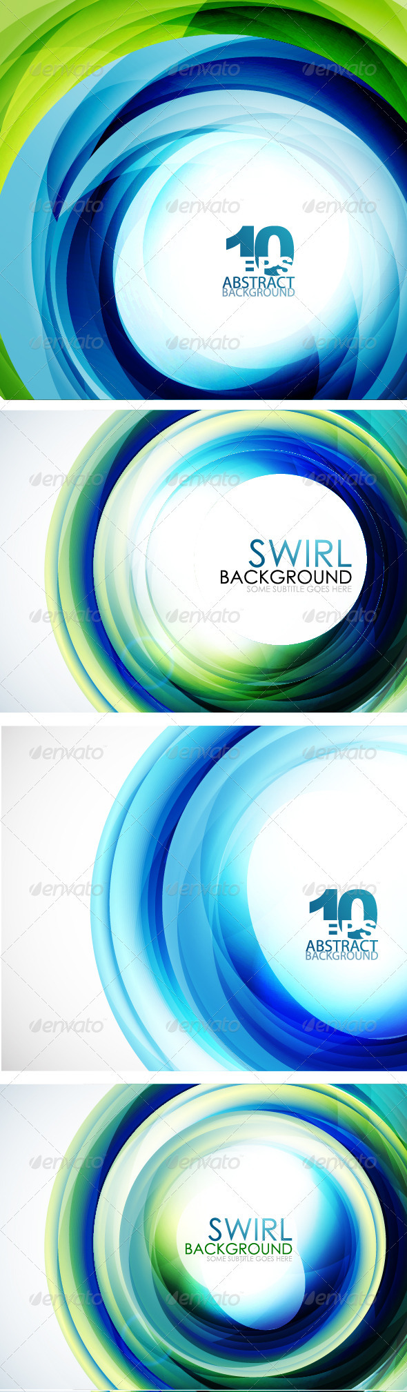 GraphicRiver Blue Swirl Backgrounds 3649578