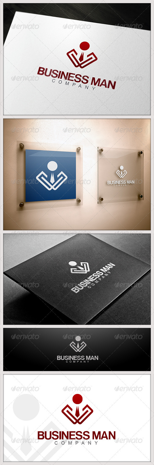 Business Man Logo - Humans Logo Templates