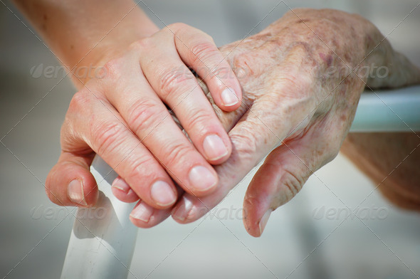 Young help Old - Stock Photo - Images