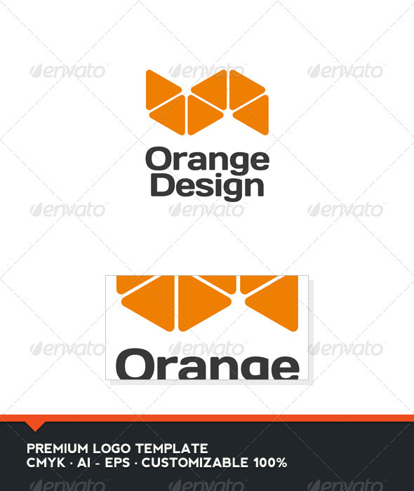 GraphicRiver Orange Design Logo Template 3651743