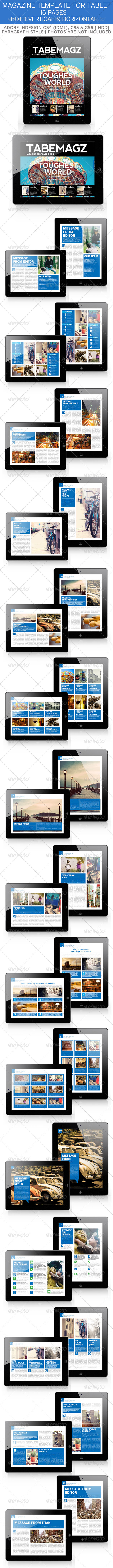 GraphicRiver Tabemagz Magazine Template for Tablet 3336476