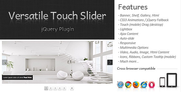 CodeCanyon Versatile Touch Slider 3652068