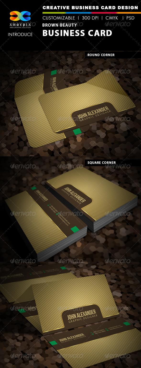 Brown-Beauty Business Card - Creative Business Cards