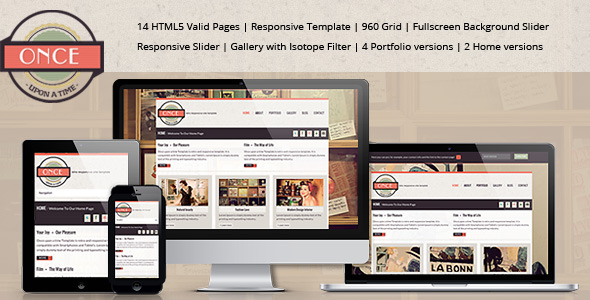 """Once ...upon a time""-Responsive Site Template"