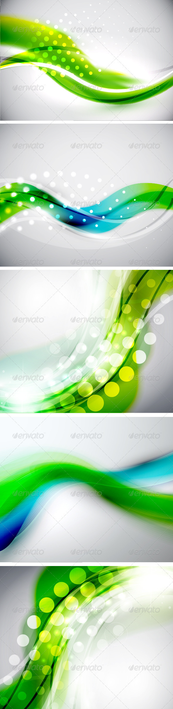 GraphicRiver Blue Green Creative Backgrounds 3652514