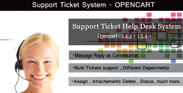 Support Ticket System - OpenCart - WorldWideScripts.net vare til salg