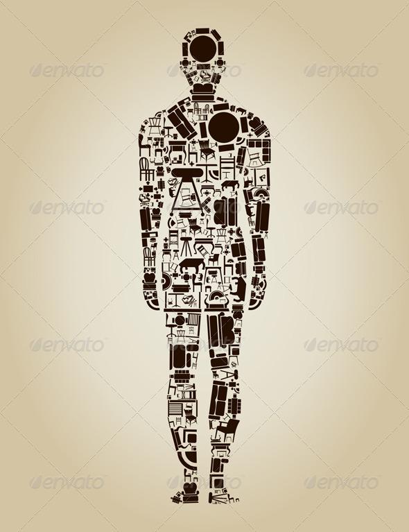 GraphicRiver Person Made of Furniture 3652694