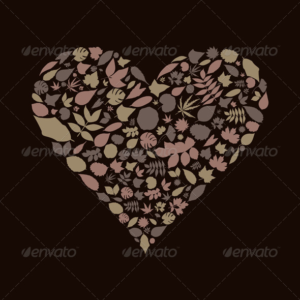 GraphicRiver Leaf Heart 3652704