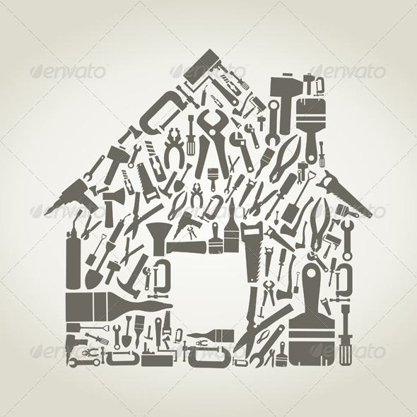 GraphicRiver House Made of Tools 3652816