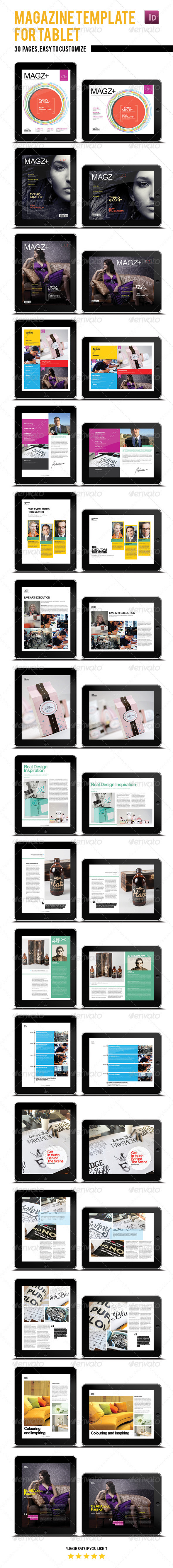 Tablet Magazine Template - Digital Magazines ePublishing