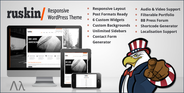 ThemeForest Ruskin Responsive WordPress Theme 1781770