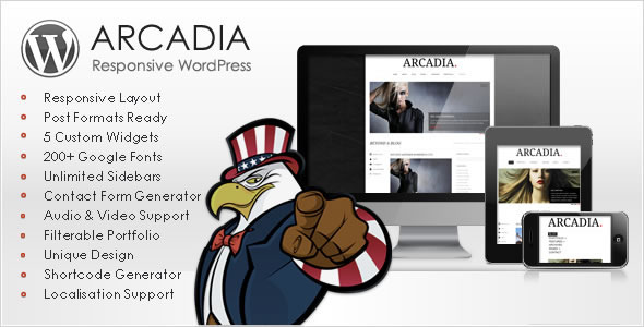 ThemeForest Arcadia Responsive WordPress Blog 1944474