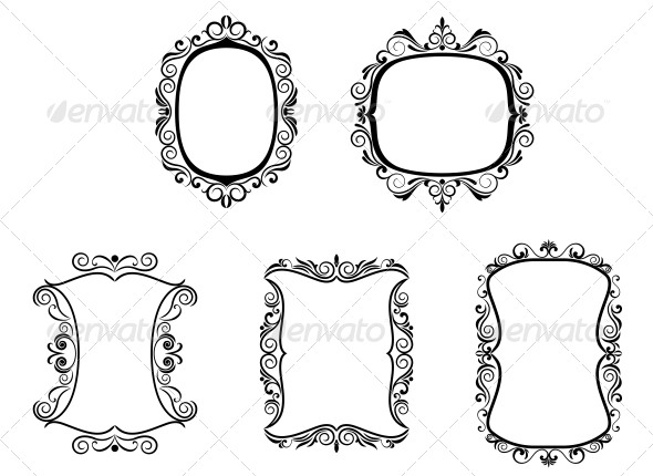 GraphicRiver Set of Vintage Frames 3653143