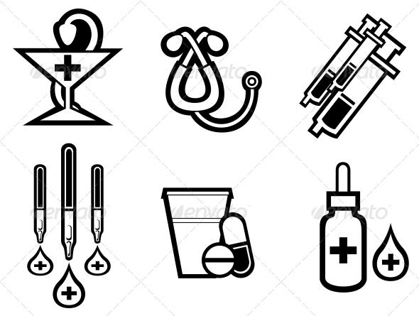 Medicine Symbols - Health/Medicine Conceptual