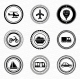 Black Retro Labels and Badges - Transportation - GraphicRiver Item for Sale
