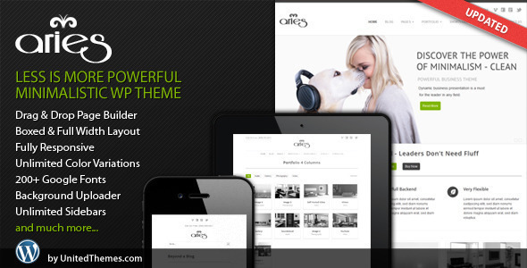 ThemeForest Aries Responsive Business WordPress Theme 2657035