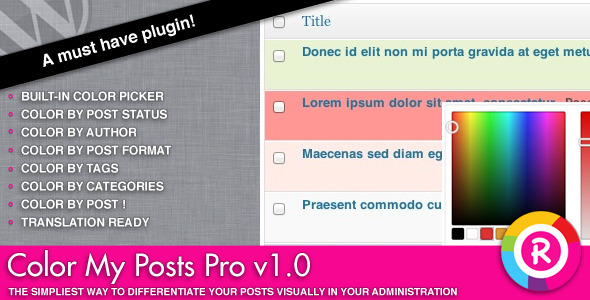CodeCanyon Color My Posts Pro 3653526