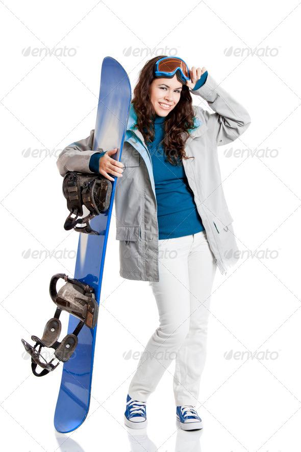 PhotoDune Snowboard woman 3661573