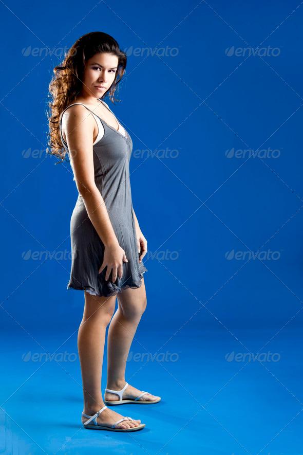 PhotoDune Fashion woman in blue 3661579