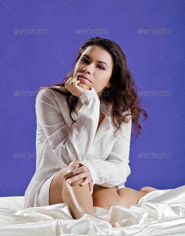 PhotoDune Beautiful woman waking up 3661585