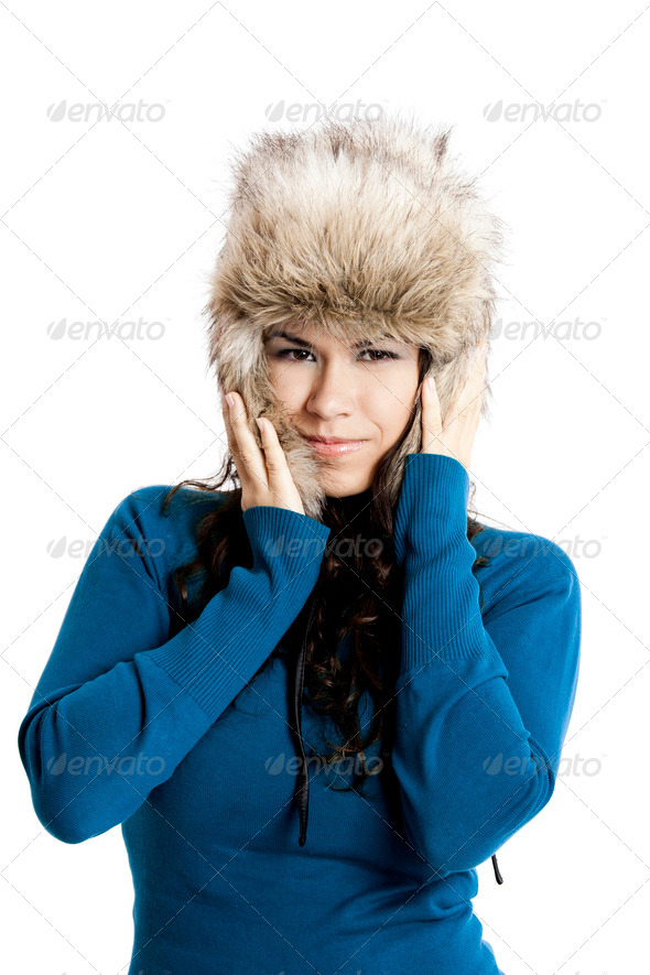 PhotoDune Girl with a fur hat 3661588