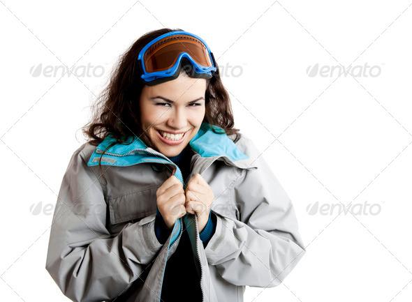 PhotoDune Snow sport ski girl 3661593