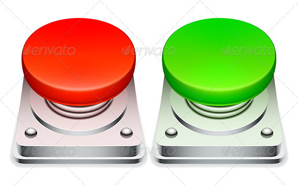 GraphicRiver Red and Green Buttons 3653632