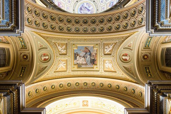 PhotoDune St Stephen s Basilica Jesus fresco 3653943