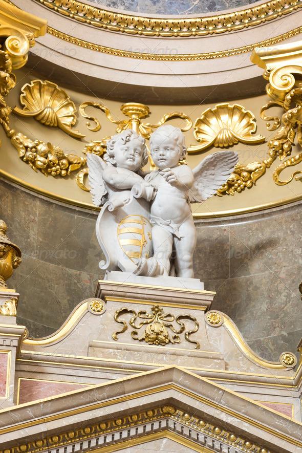 PhotoDune St Stephen s Basilica interior with statue 3653944