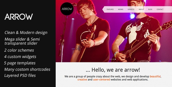 Arrow: Creative Portfolio WordPress Template