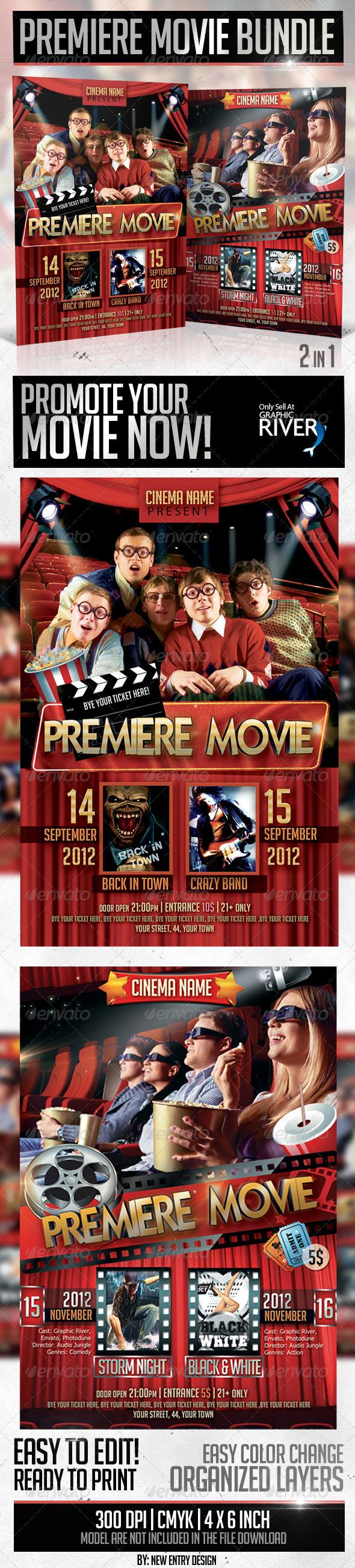 GraphicRiver Premiere Movie Flyer Bundle 2in1 3654070