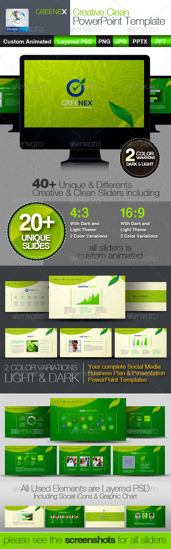 GraphicRiver Greenex Creative PowerPoint Templates 3654165