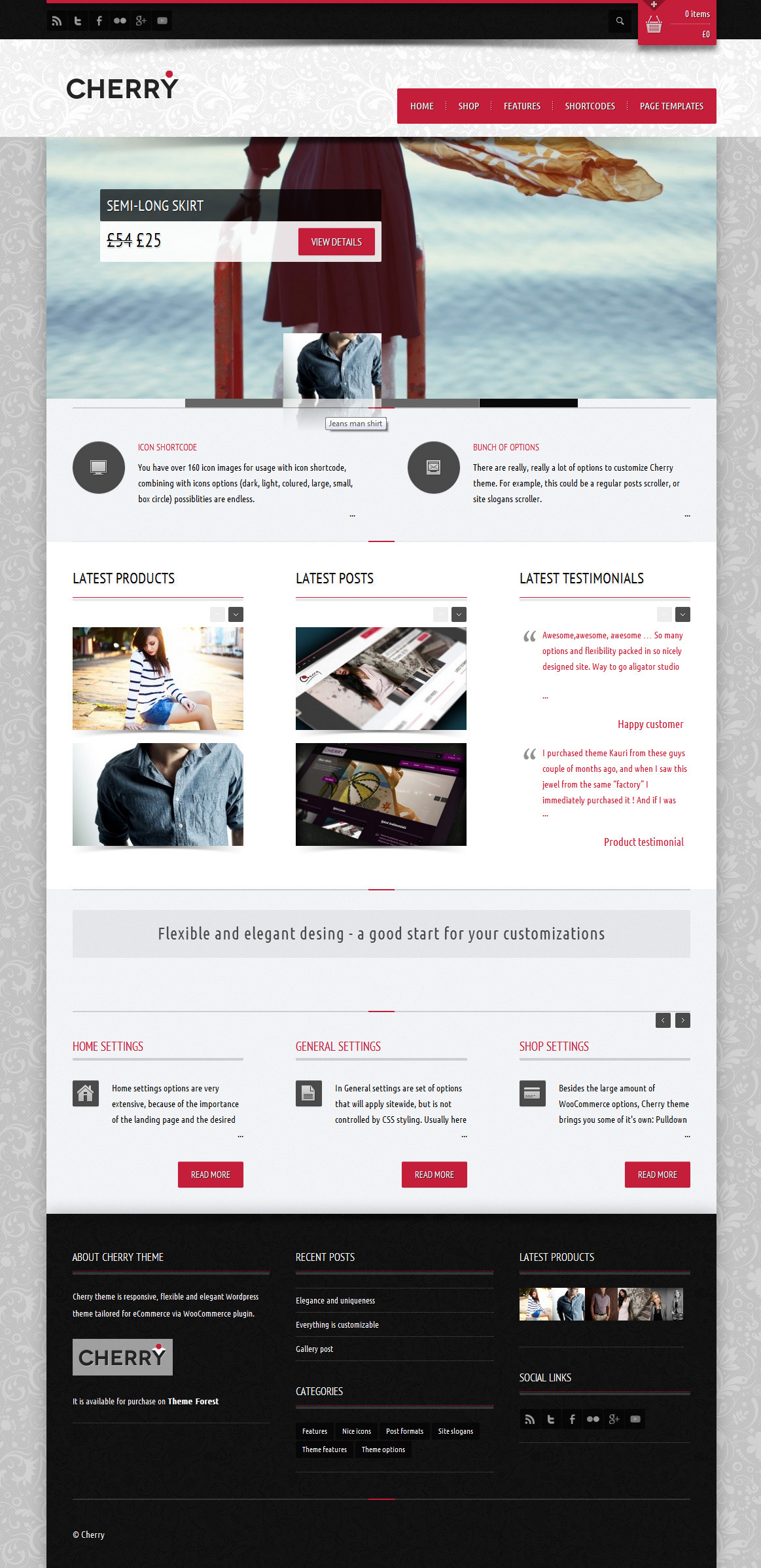 Cherry - responsive e-commerce theme for WP