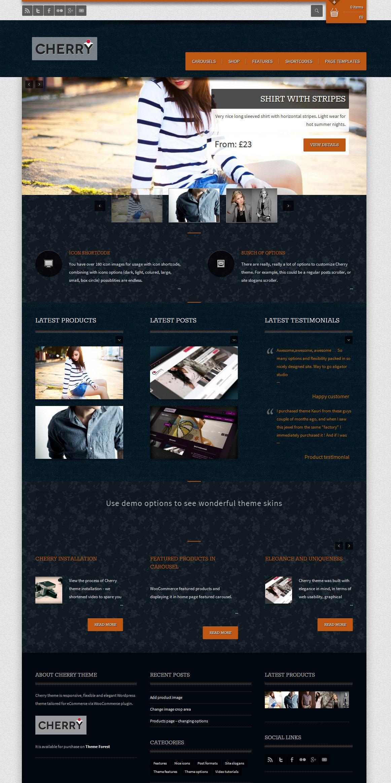 Cherry - responsive e-commerce theme for WP