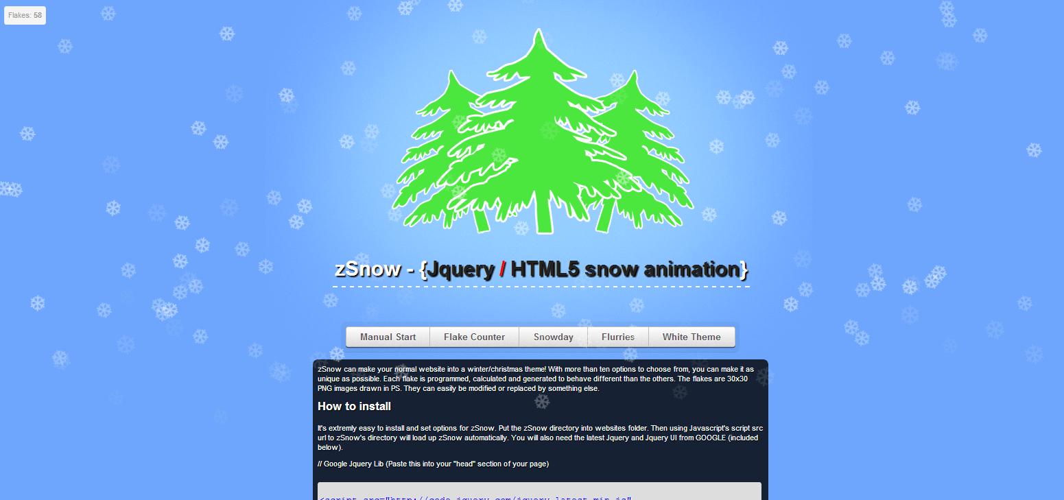 Google jquery themes - Zsnow Screenshots Zsnow1