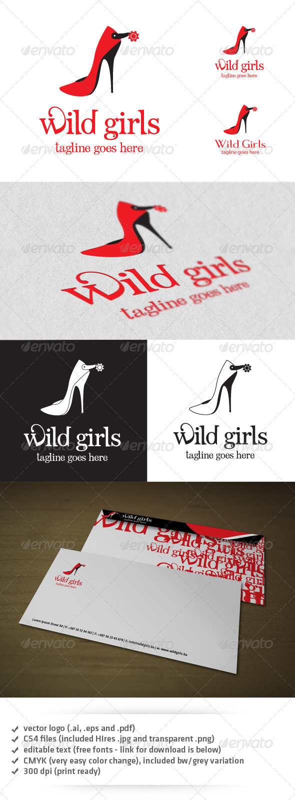 GraphicRiver Wild Girls Logo 3654463