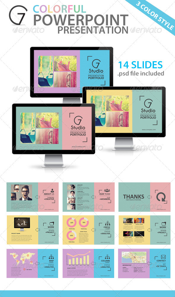 GraphicRiver Colorful Powerpoint Presentation Template 3627135