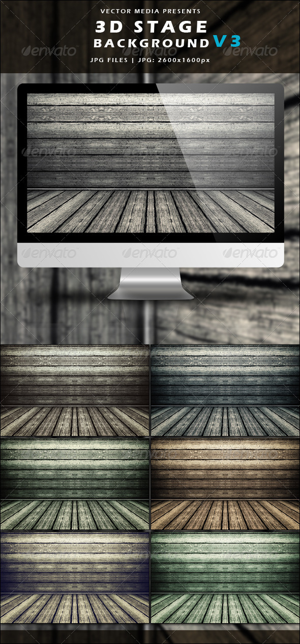 GraphicRiver 3D Stage Background Vol.3 3654758