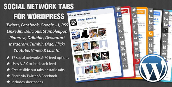 CodeCanyon Social Network Tabs For Wordpress 1982987