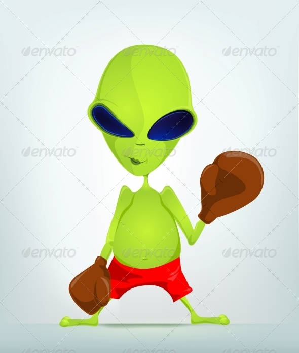 GraphicRiver Cartoon Character Alien 3655160