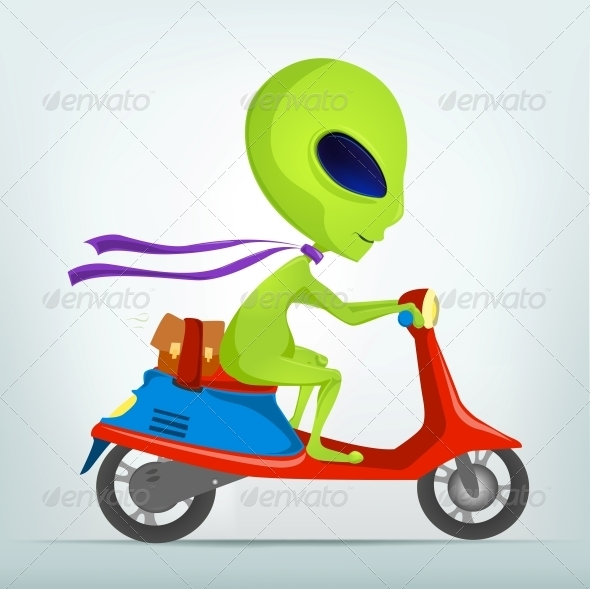 GraphicRiver Cartoon Character Alien 3655170