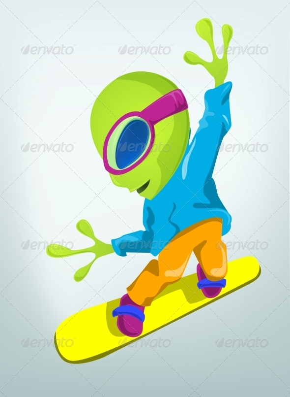 GraphicRiver Cartoon Character Alien 3655177