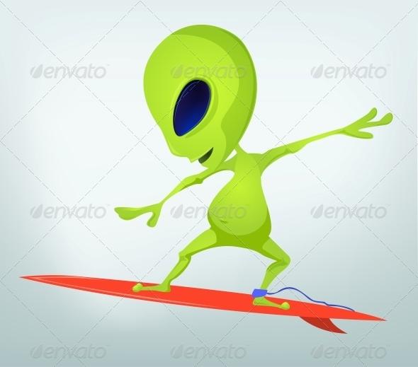 GraphicRiver Cartoon Character Alien 3655181
