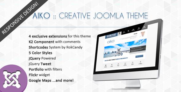 ThemeForest Aiko Creative Joomla Theme 3550175