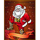 Santa Claus Tries on Gift - GraphicRiver Item for Sale