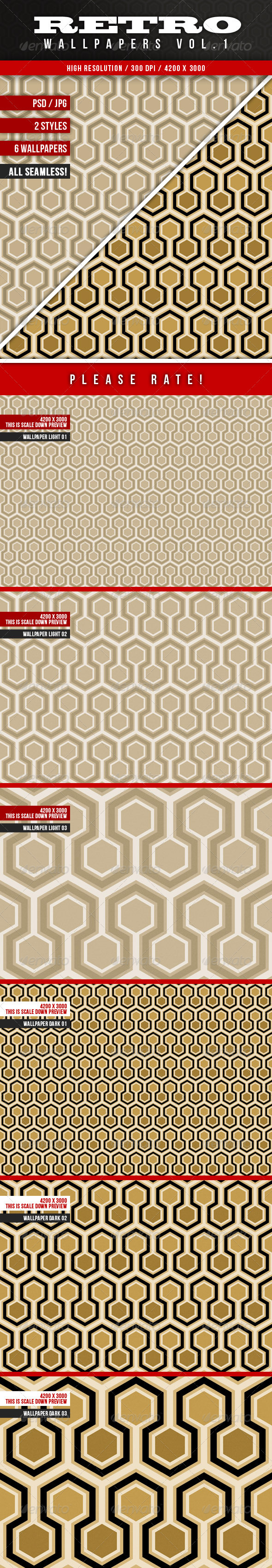 GraphicRiver Retro Wallpapers Vol.1 3655571