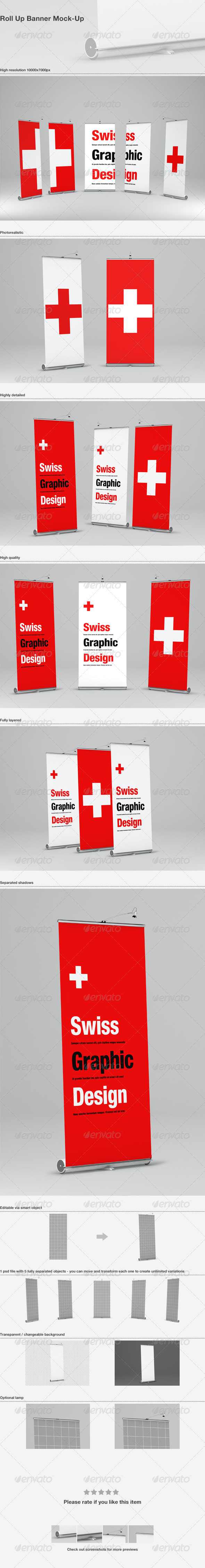 GraphicRiver Roll Up Banner Mock-Up 3655759