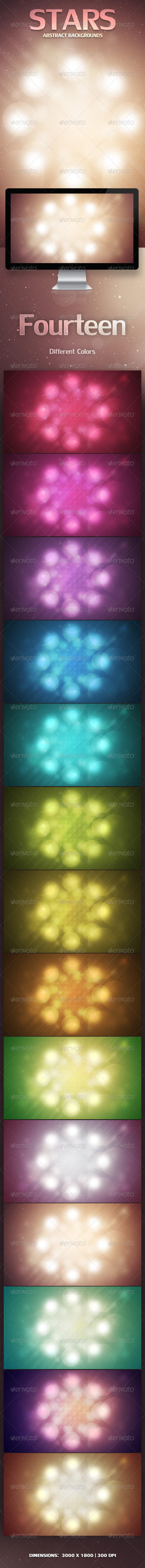 GraphicRiver Stars Abstract Backgrounds 3610004