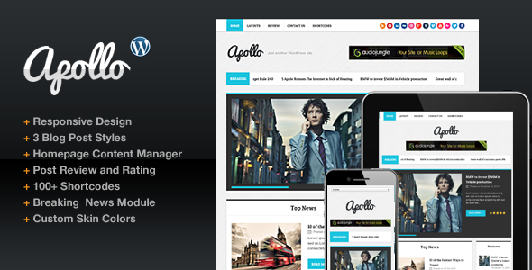 ThemeForest Apollo Modern Magazine Newspaper Template 3566316