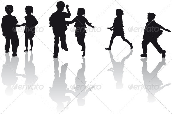 GraphicRiver Kids Running 3569945